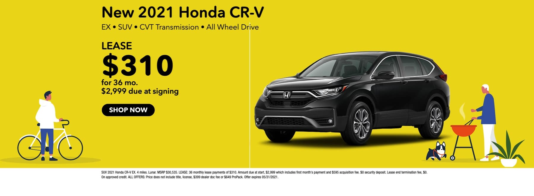 New 2021 Honda CR-V EX