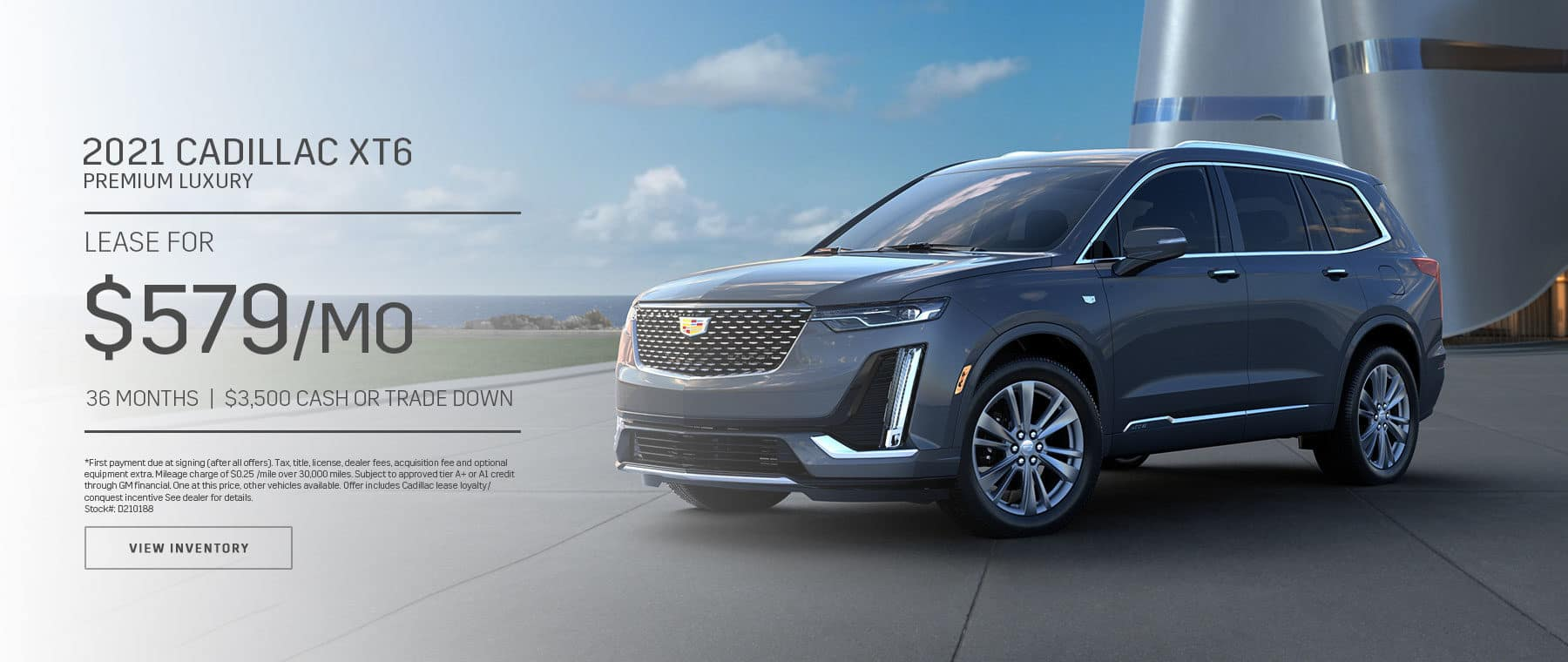 2021 Cadillac XT6 Premium Luxury $579 a month 36 Month lease $3,500 Cash or Trade Down