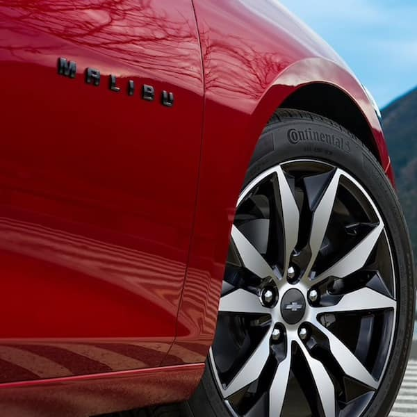New Red Chevrolet Malibu Sedan Wheel