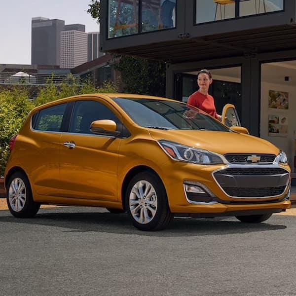 New Chevrolet Spark Subcompact Hatchback Sedan Orange Burst