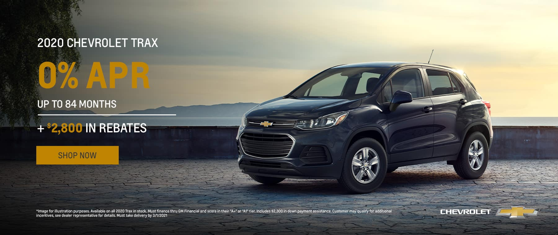 Feb2021 - 2020 Chevrolet Trax 0% APR up to 84 mos + $2800 in rebates