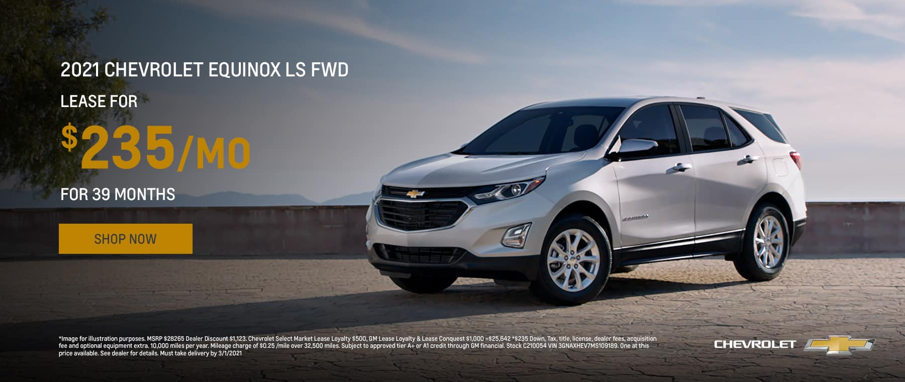 2021 Chevrolet Equinox LS FWD Lease for $235/mo for 36 mos