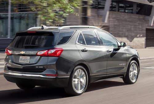 2021 grey Chevrolet Equinox rear view