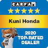 Kuni Honda CarFax Top-Rated Dealer 2020 Award