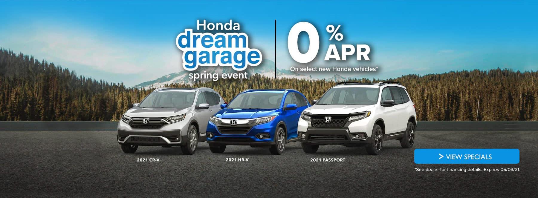 2021 Honda 0% APR Dream Garage