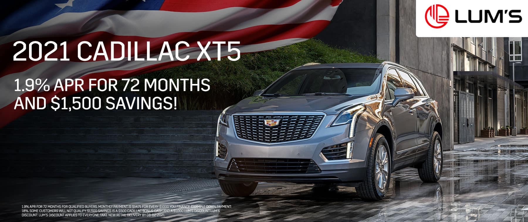 2021 Cadillac XT5 1.9% APR for 72 months and $1,500 Savings!