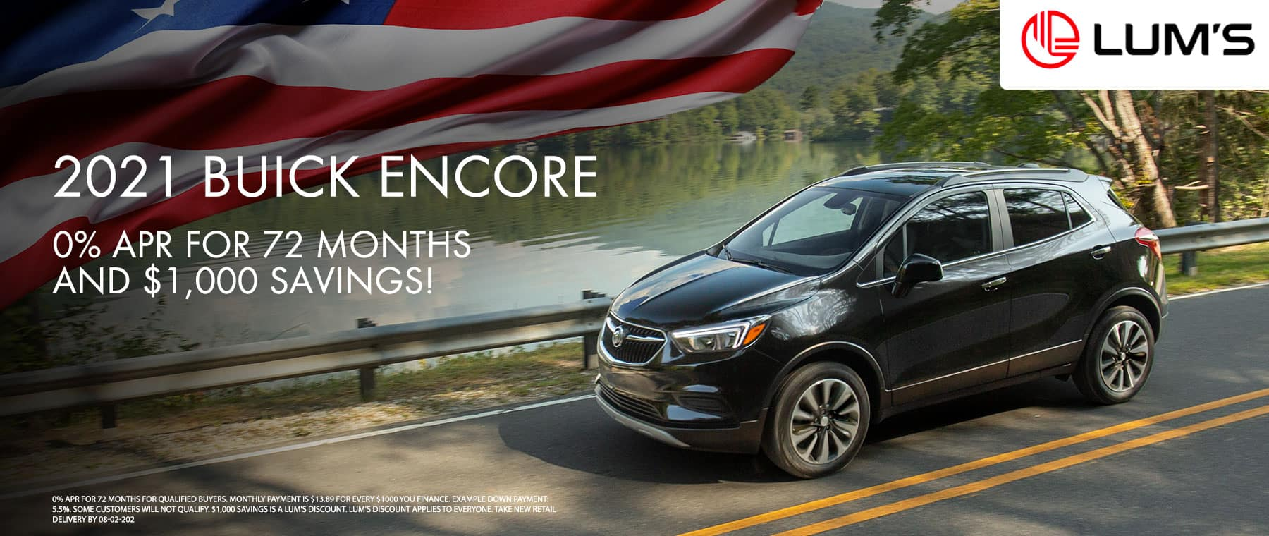 2021 Buick Encore 0% APR for 72 months and $1,000 Savings!