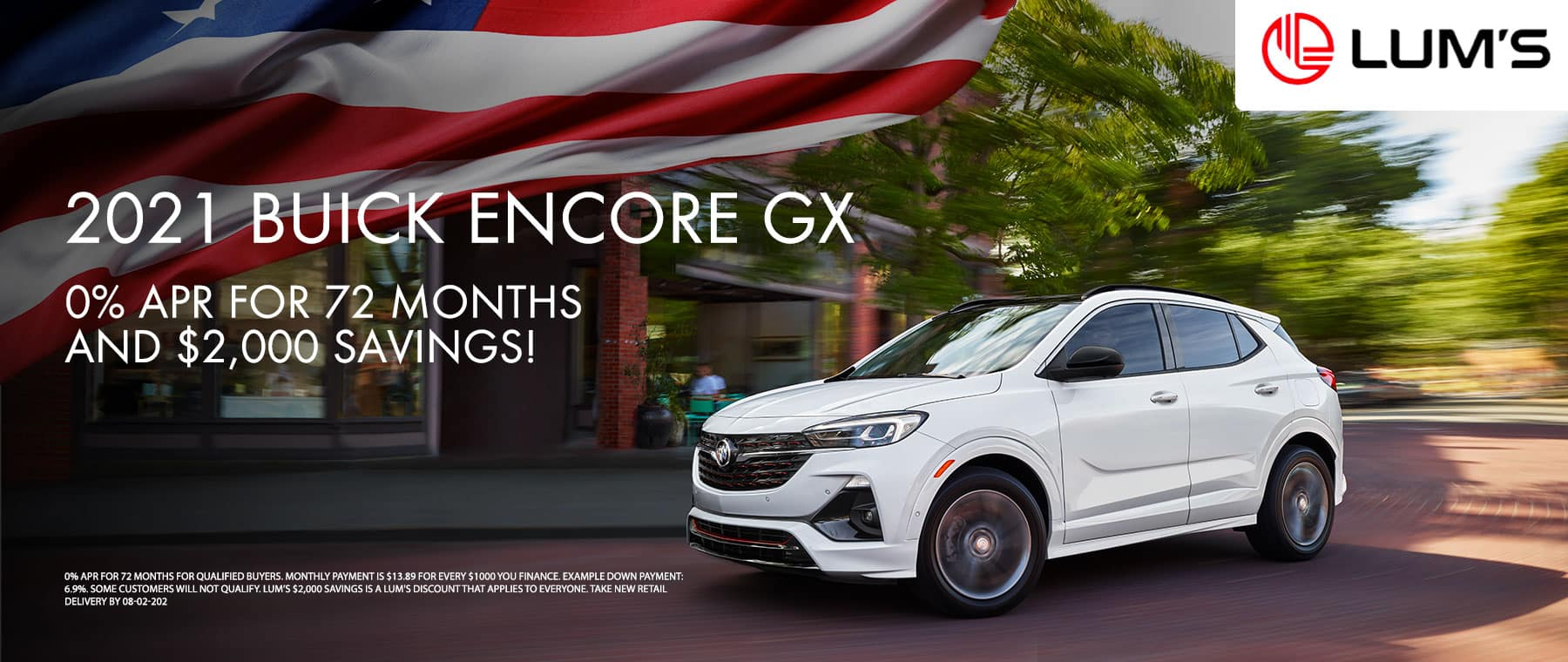 2021 Buick Encore GX 0% APR for 72 months and $2,000 Savings!