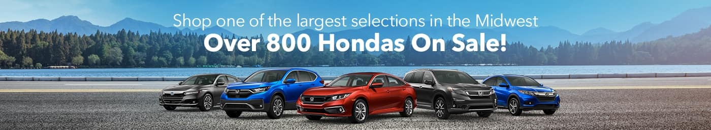 Over 800 Hondas on Sale