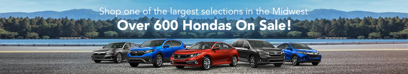Over 600 Hondas on Sale