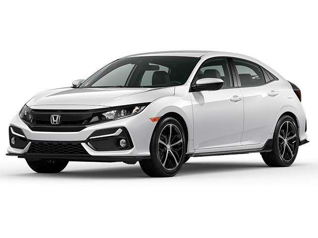 2021 Civic Hatchback Sport White
