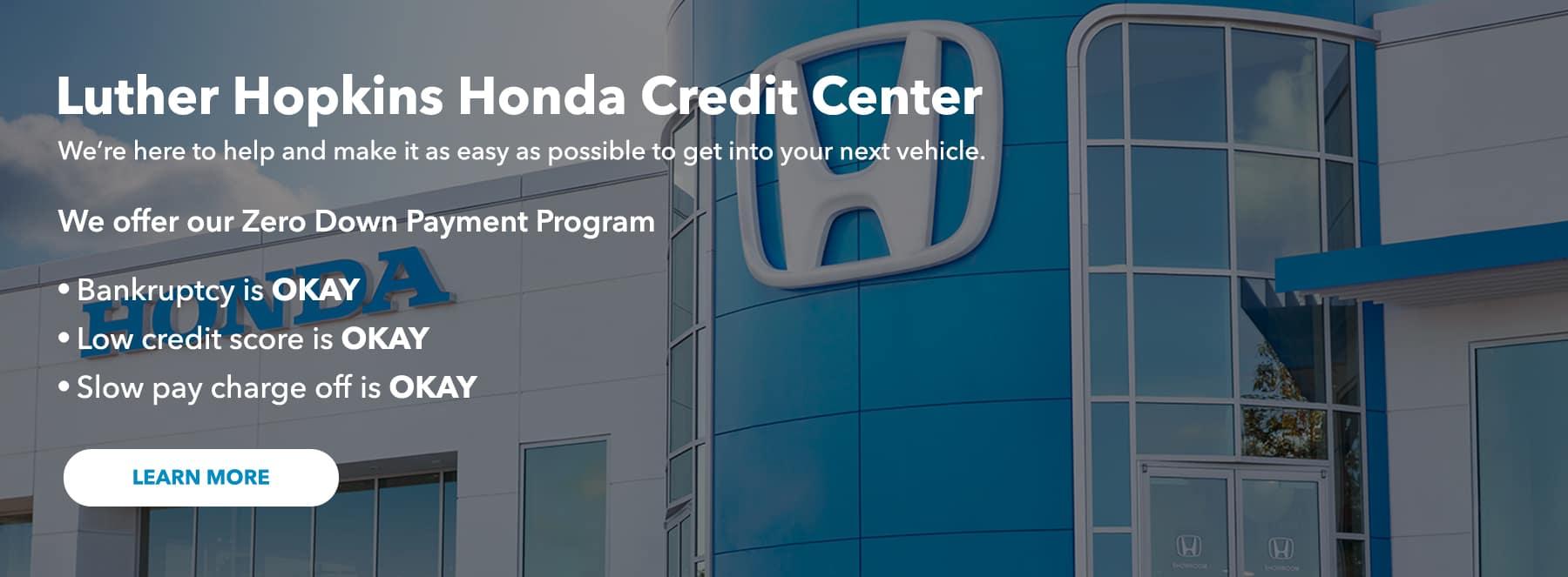 Hopkins Honda Credit Center