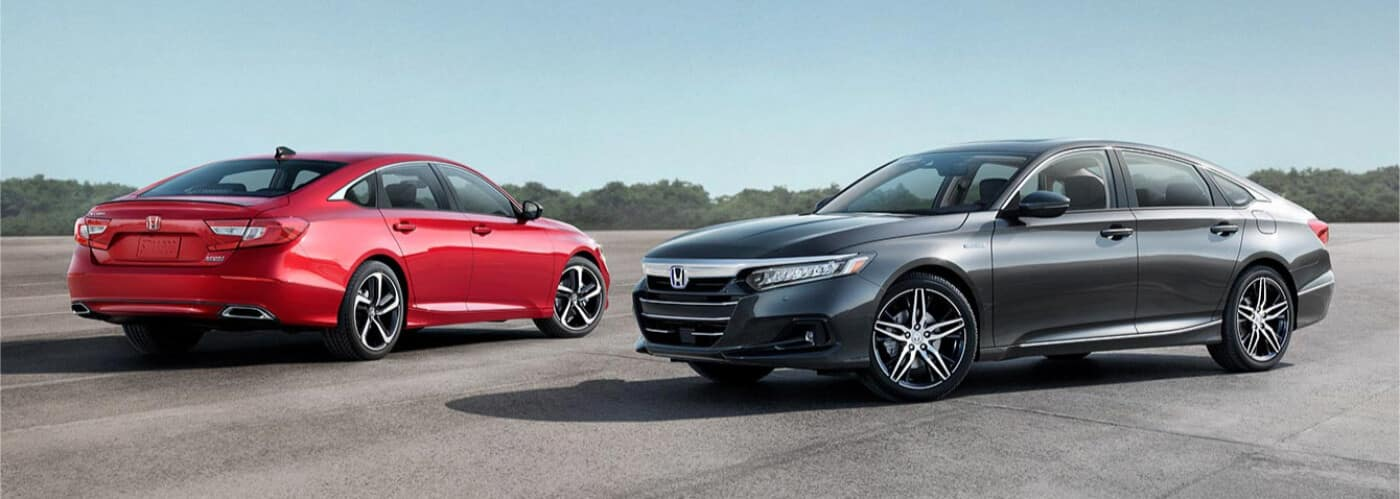 2021 Honda Accords parked on a runway