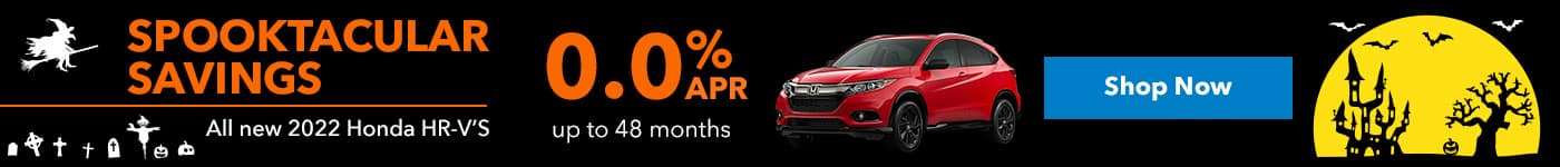 All new 2022 Honda HRV'S 0.0% up to 48 months