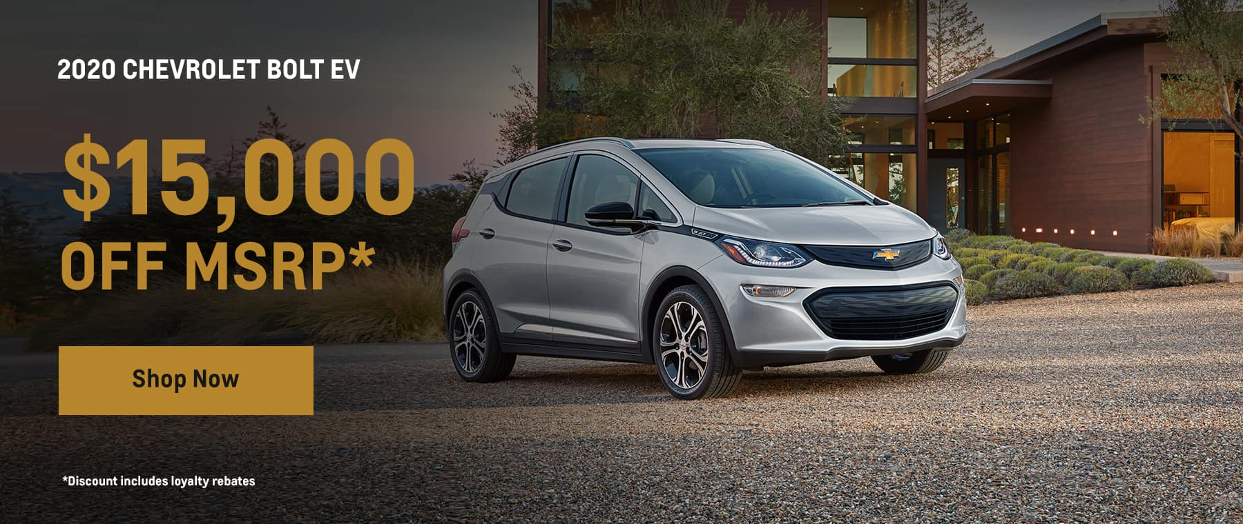 2020 Chevrole bolt - $15,000 off MSRP