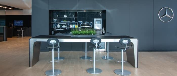 Coffee Bar at Mercedes-Benz Van Center – Baker