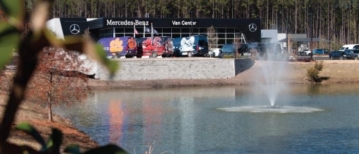 Fishing Pond at Mercedes-Benz Van Center – Baker