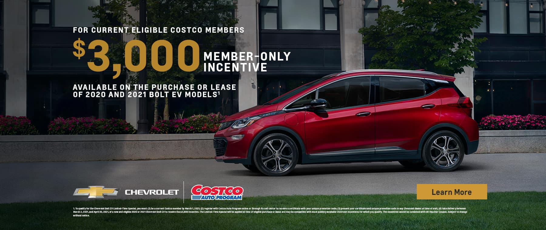2020 and 2021 Bolt with $3,000 Costco Member-only Incentive