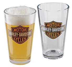 HDX-98706 - Harley Bar & Shield Pint Glass Set