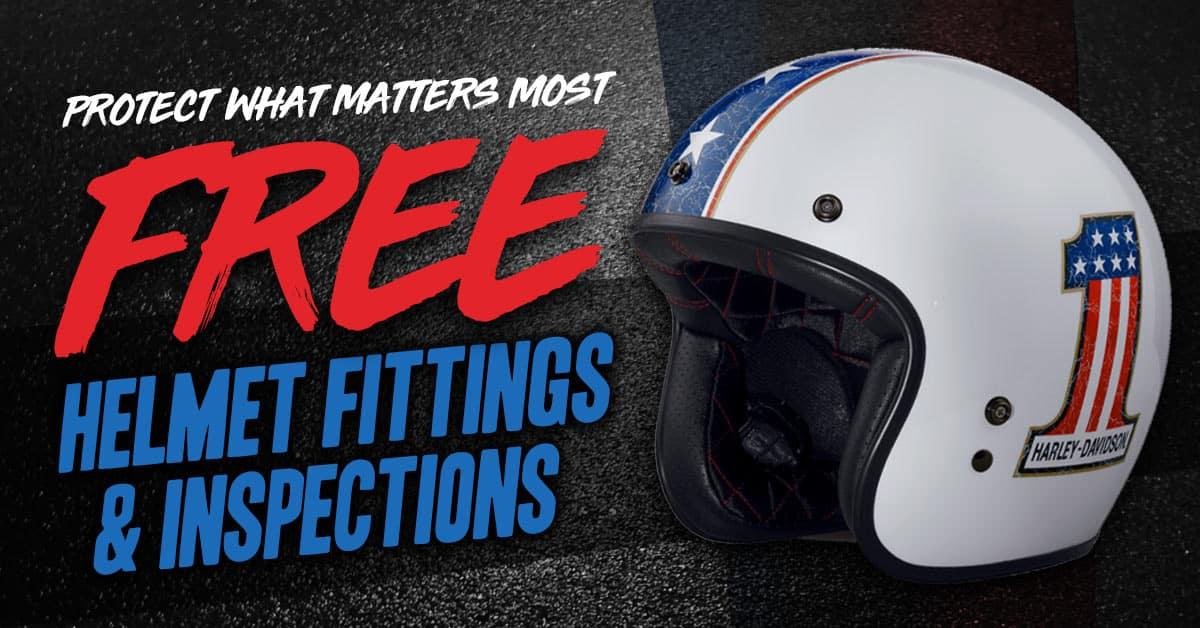 Free Helmet Fittings & Inspections