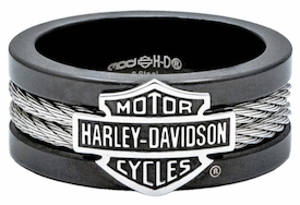 HSR0021 - Licensed Harley Stainless Steel Cable Ring