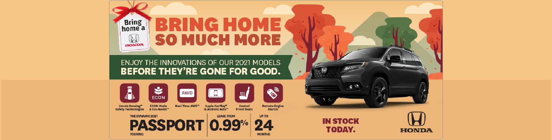 Bring Home a 2021 Honda Passport – Penticton Honda