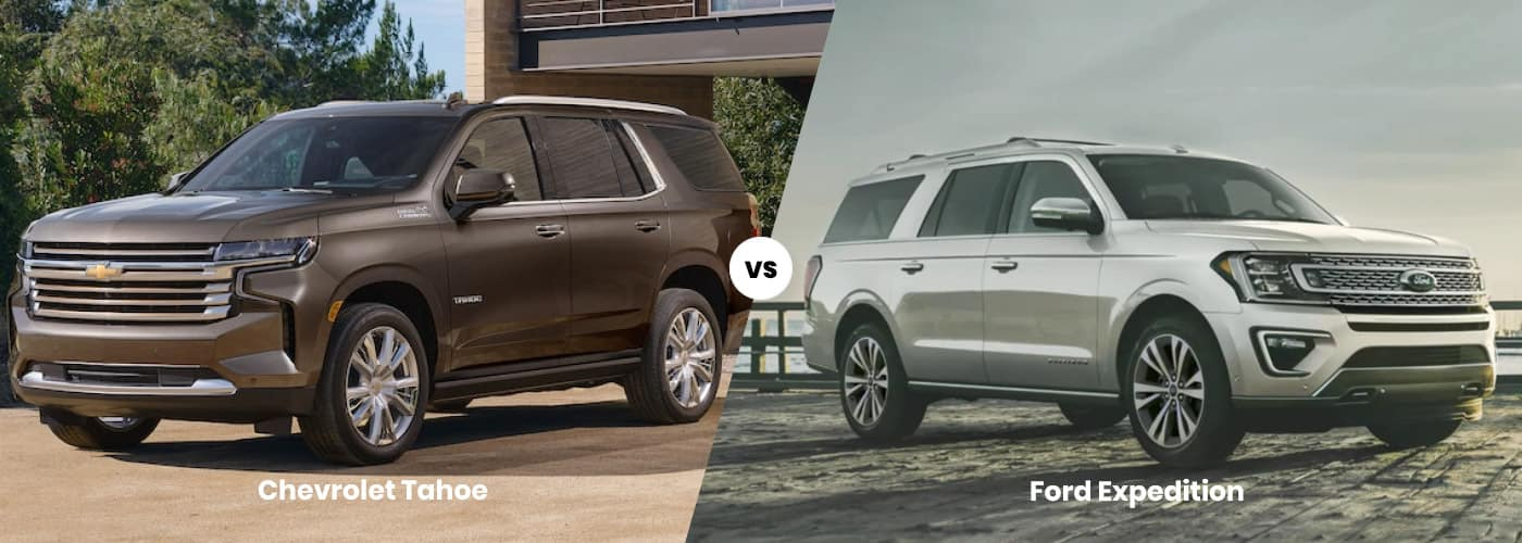 2021 Chevy Tahoe vs 2021 Ford Expedition comparison