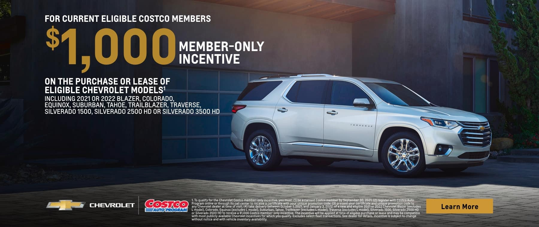 $1,000 member-only incentive