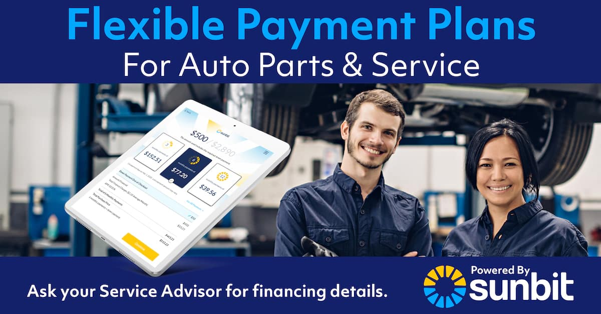 Flexible Payment Plans for Parts and Service