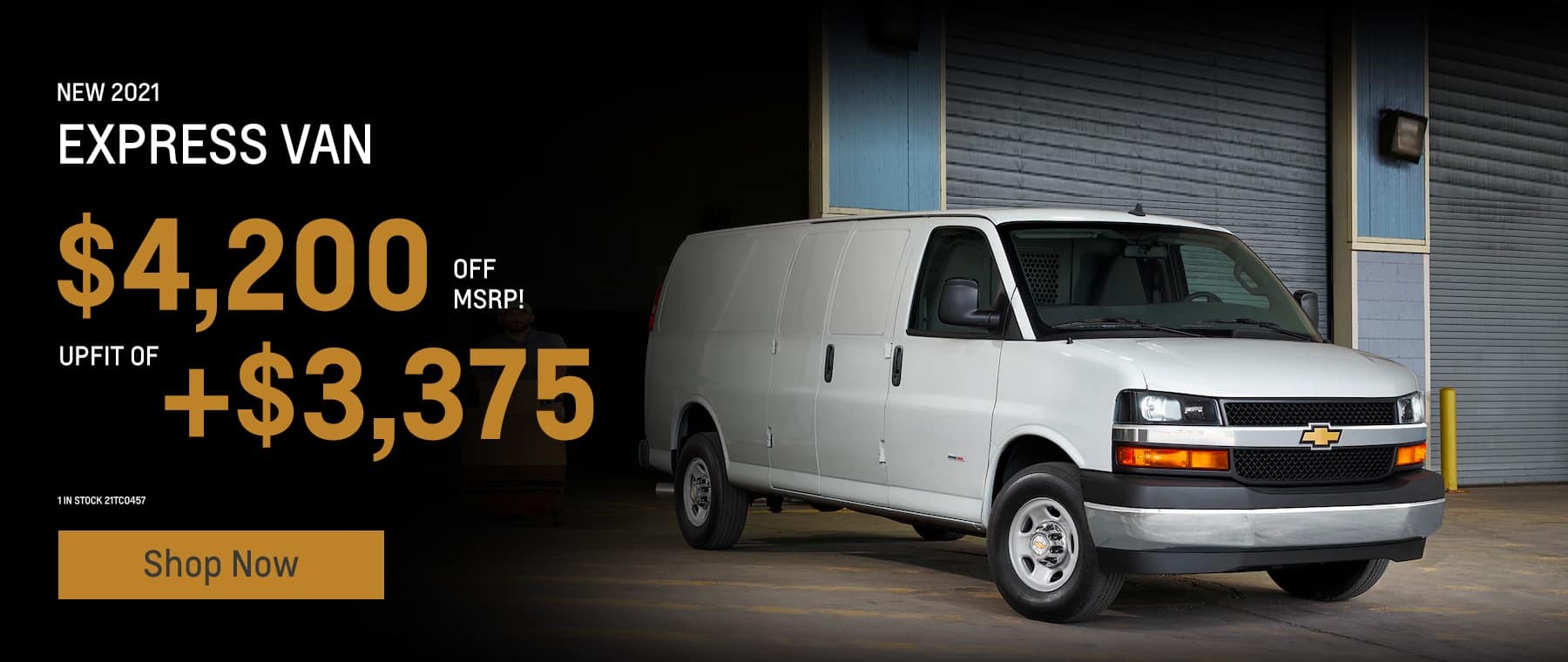 Express Van. Savings = $4,200 off MSRP. Upfit of +$3,375. 1 in stock 21TC0457
