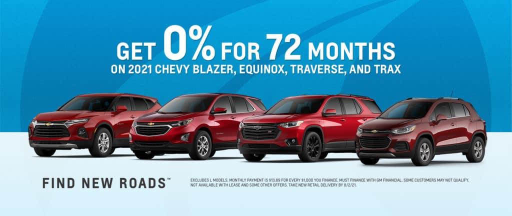 0% - 72mo. Chevy Blazer, Equinox, Traverse & Trax