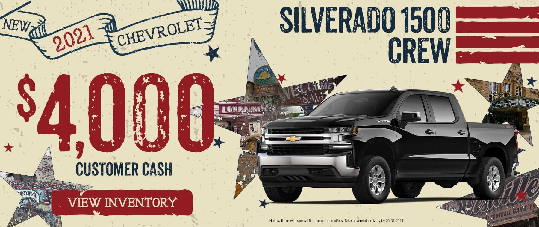 2021 CHEVROLET SILVERADO 1500 CREW