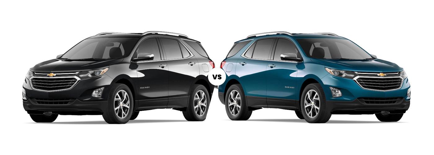 Image comparing 2021 Chevrolet Equinox LS vs. 2021 Chevrolet Equinox LT, exterior view