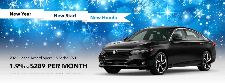 2021 Honda Accord Sport 1.5 Sedan CVT: 1.9% OR $289 PER MONTH
