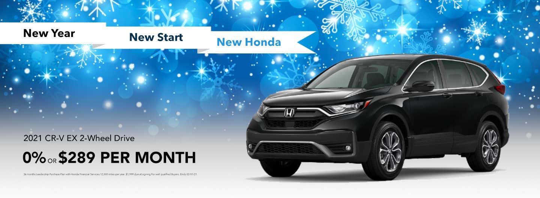 2021 Honda CR-V EX 2WD: 0% or $289 per month