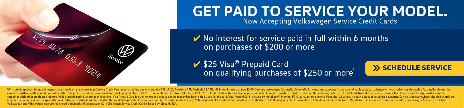 VW Service Credit Card in Tampa, FL