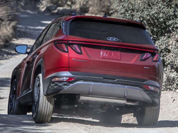 2022 Hyundai Tucson Rear Angle